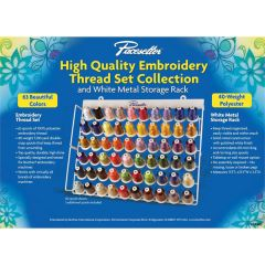 Brother ETKS63 Pacesetter Embroidery Sewing Thread Set - 63 pc.