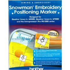Brother SAESP1 Snowman Embroidery Positioning Markers