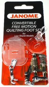 Janome Free Motion Convertible Foot Low Shank- 3 Piece Set