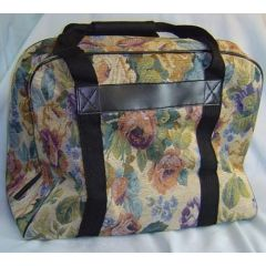Hemline Sewing Machine Hand Tote in Cream Floral