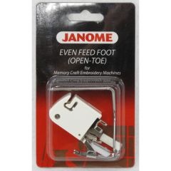 Janome Even Feed Foot - Open Toe for Memory Craft