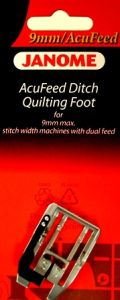 Janome Acufeed Ditch Quilting Foot 9mm