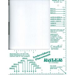 Creative Notions Adult Embroidery Placement Ruler