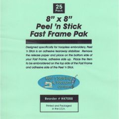 Peel n Stick Embroidery Stabilizer 8 x 8 Inches