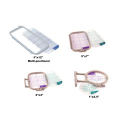 Sew Tech 4in1 Embroidery Hoop Set for Brother PE700 PE770 NV1250D and More