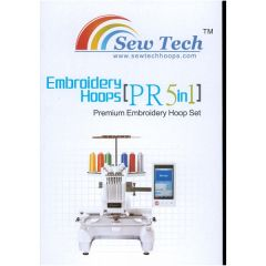 Sew Tech 5in1 Embroidery Hoop Set for Brother PR600 620 650 655 1000