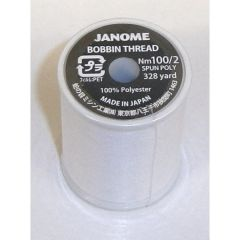 Janome 100% Polyester Embroidery Bobbin Thread 328yd
