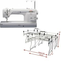 Janome 1600P-QC with Grace Q-Zone Queen Metal Frame