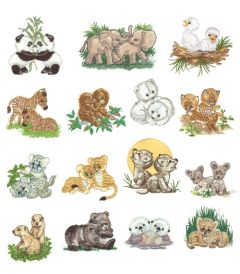 DIME Inspiration Collection Embroidery Designs #44 Morehead Baby Animals