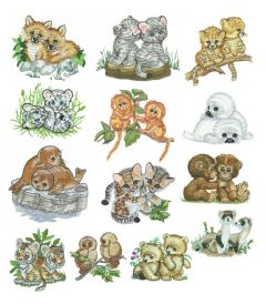 DIME Inspiration Collection Embroidery Designs #45 Morehead Baby Animals - Collection 2