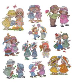 DIME Inspiration Collection Embroidery Designs #49 Morehead Calico Cuties