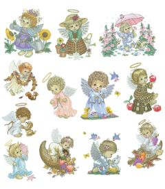 DIME Inspiration Collection Embroidery Designs #54  Morehead Large Angels