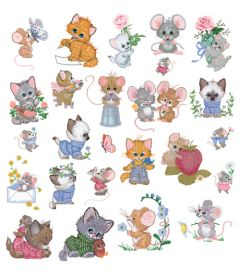 DIME Inspiration Collection Embroidery Designs #57 Morehead Precious Pals