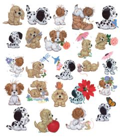 DIME Inspiration Collection Embroidery Designs #58 Morehead Puppy Toes
