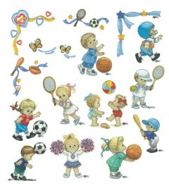 DIME Inspiration Collection Embroidery Designs #60 Morehead Sports Kids