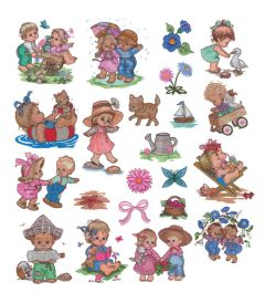 DIME Inspiration Collection Embroidery Designs #61 Morehead Summer Fun