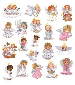 DIME Inspiration Collection Embroidery Designs #65 Morehead Watercolor Angels