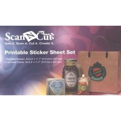 Brother ScanNCut Printable Sticker Sheet Set CAPSS1