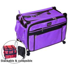 Tutto 28 Inch Sewing and Embroidery Machine Trolley On Wheels in Purple
