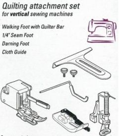Quilting Attachment Set for Low Shank Machines