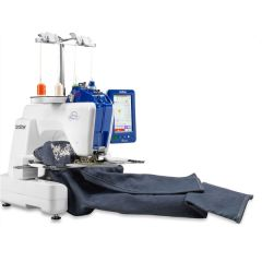 Brother Persona PRS100 Single Needle Commercial Embroidery Machine with Quilting Freemotion Kit