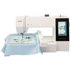 Janome Memory Craft 500E Embroidery Only Machine with Exclusive Bonus Package
