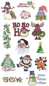 Designs in Machine Embroidery #95 Great Notions Christmas Greatest Hits