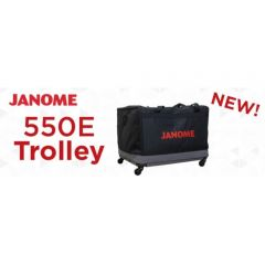 Janome 550e Embroidery Machine Trolley on Wheels