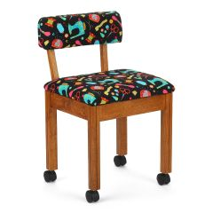 Arrow Oak Sewing Chair