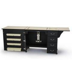 Arrow Norma Jean Sewing Machine Cabinet In Black