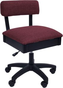 Arrow Hydraulic Sewing Chair in Crown Ruby Red Fabric