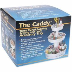 The Caddy Three Tiered Sewing and Craft Accessory Tray