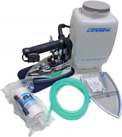 Consew CES-85 Gravity Feed Commercial Steam Iron with Bonus