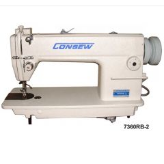 Consew 7360RB-2 Single Needle Commercial Sewing Machine with Assembled Table and Servo Motor