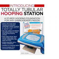 Dime Designs in Machine Embroidery Totally Tubular Hooping Station