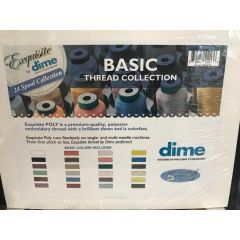 Exquisite by DIME 24 Spool Basic Thread Collection