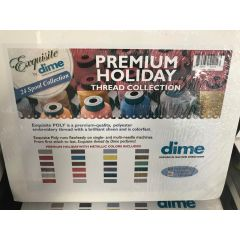 Exquisite by DIME 24 Spool Premium Holiday Embroidery Thread Collection with Metallic Thread