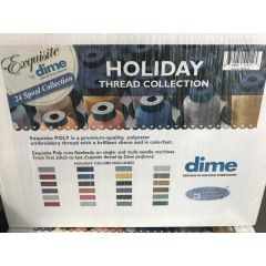 Exquisite by DIME 24 Spool Holiday Embroidery Thread Collection