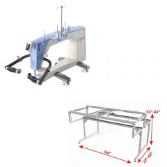 Grace Qnique 19 Longarm Quilting Machine with Q-Zone Hoop Frame Combo