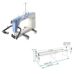 Grace Qnique 19 Longarm Quilting Machine with Q-Zone Queen Frame Combo