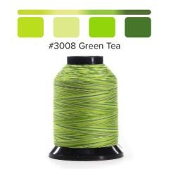 Grace Finesse Variegated Quilting Thread Green Tea #3008
