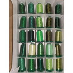 Exquisite 25 Shades of Green Embroidery Thread Set