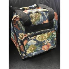 Hemline Serger Tote in Blue Floral
