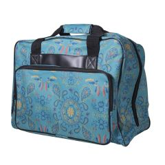 Janome Sewing Machine Tote in Green Paisley