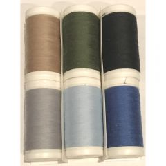 Janome Artistic Poly Core Winter All Purpose Sewing Thread Set