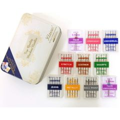 Klasse 10 Piece Assorted Sewing Machine Needle Gift Tin