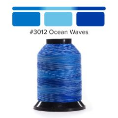Grace Finesse Variegated Quilting Thread Ocean Waves #3012
