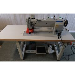 Consew Premier P2339RBLH-18 Commercial Sewing Machine With Assembled Table and Servo Motor