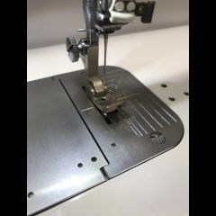 Commercial Sewing Machine Hinged Upturn Piping Foot 1/4 Inch Groove on Right Side