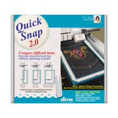 Designs In Machine Embroidery Quick Snap 2.0 for Brother 6 and 10 Needle